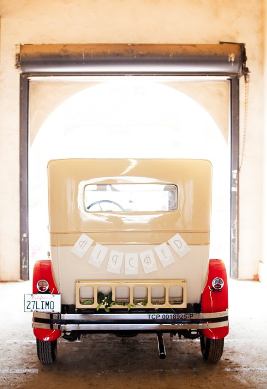 vintage wedding cars, Great Gatsby wedding