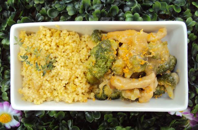 Kurczak, pierś z kurczaka z brokułami i cytryną