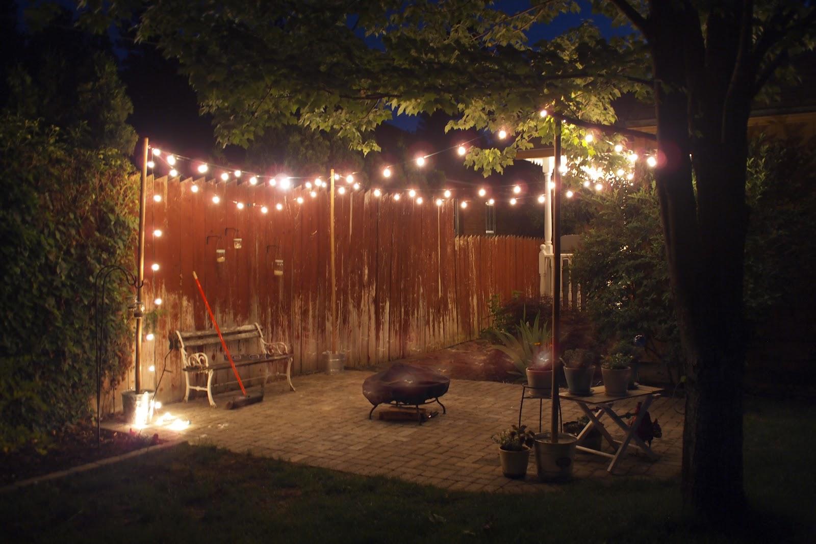 Renae 39 s adventures string lighting loveliness for Backyard with lights
