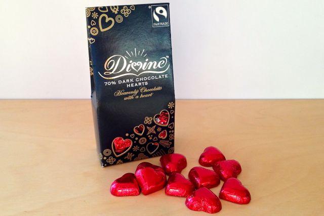 Divine 70% Dark Chocolate Hearts