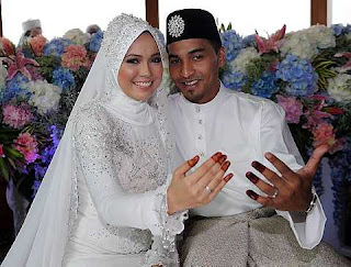 Gambar Farah Af2 dan Johan Johari Majlis Pernikahan