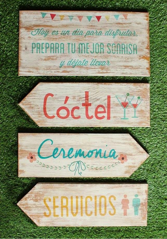 Se aliza tu boda con flechas o carteles de madera blog - Carteles originales ...