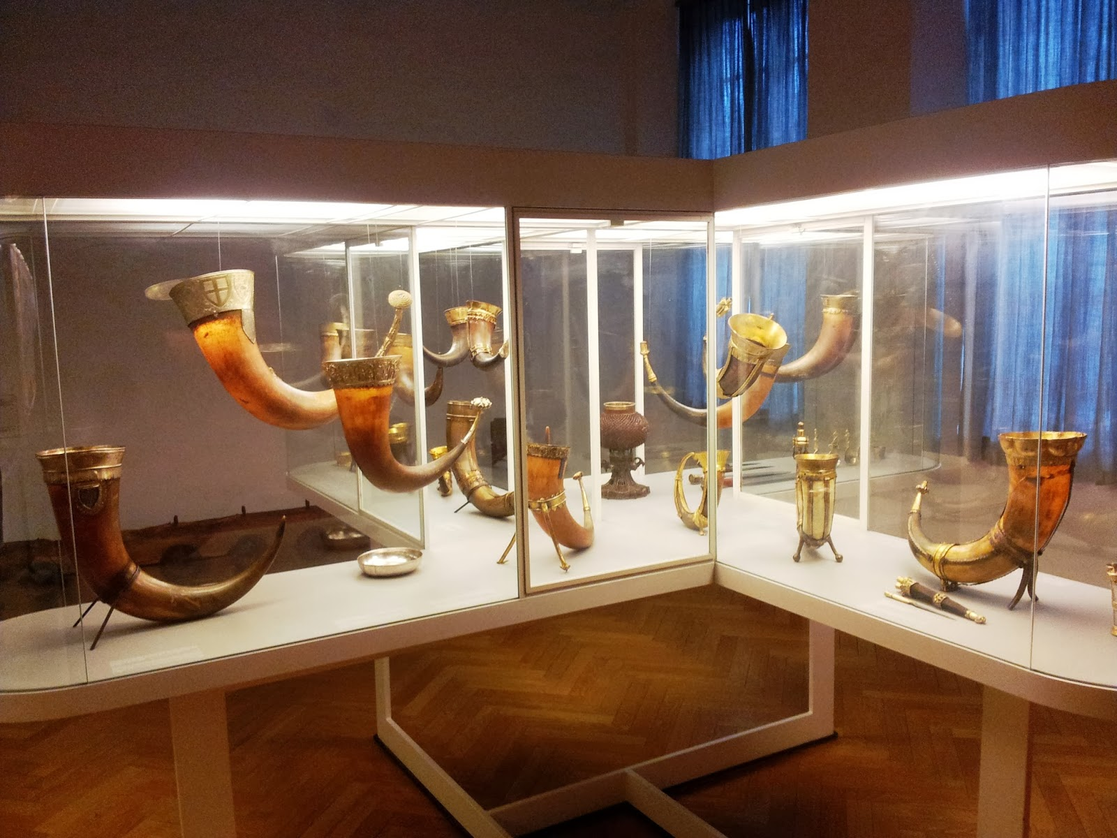 Viking horns in National Museum of Denmark, Copenhagen