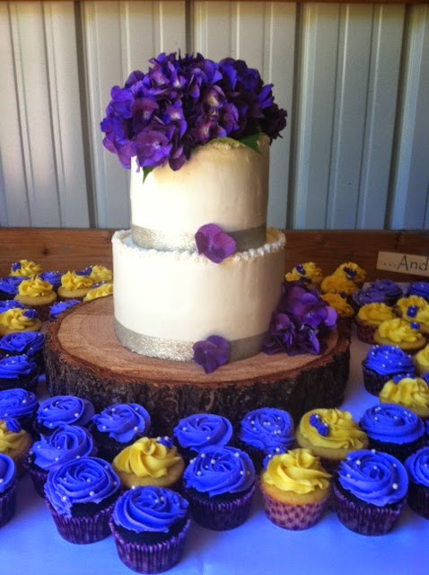 Wedding Cake and Wedding Cupcakes