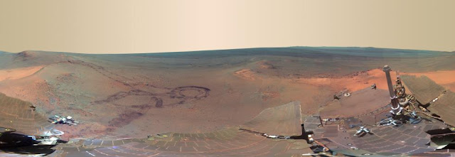 Fotografía panorámica del planeta Marte de 360 grados