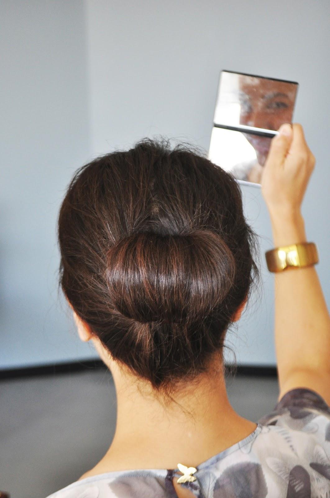 How to chestnut a style bun photo