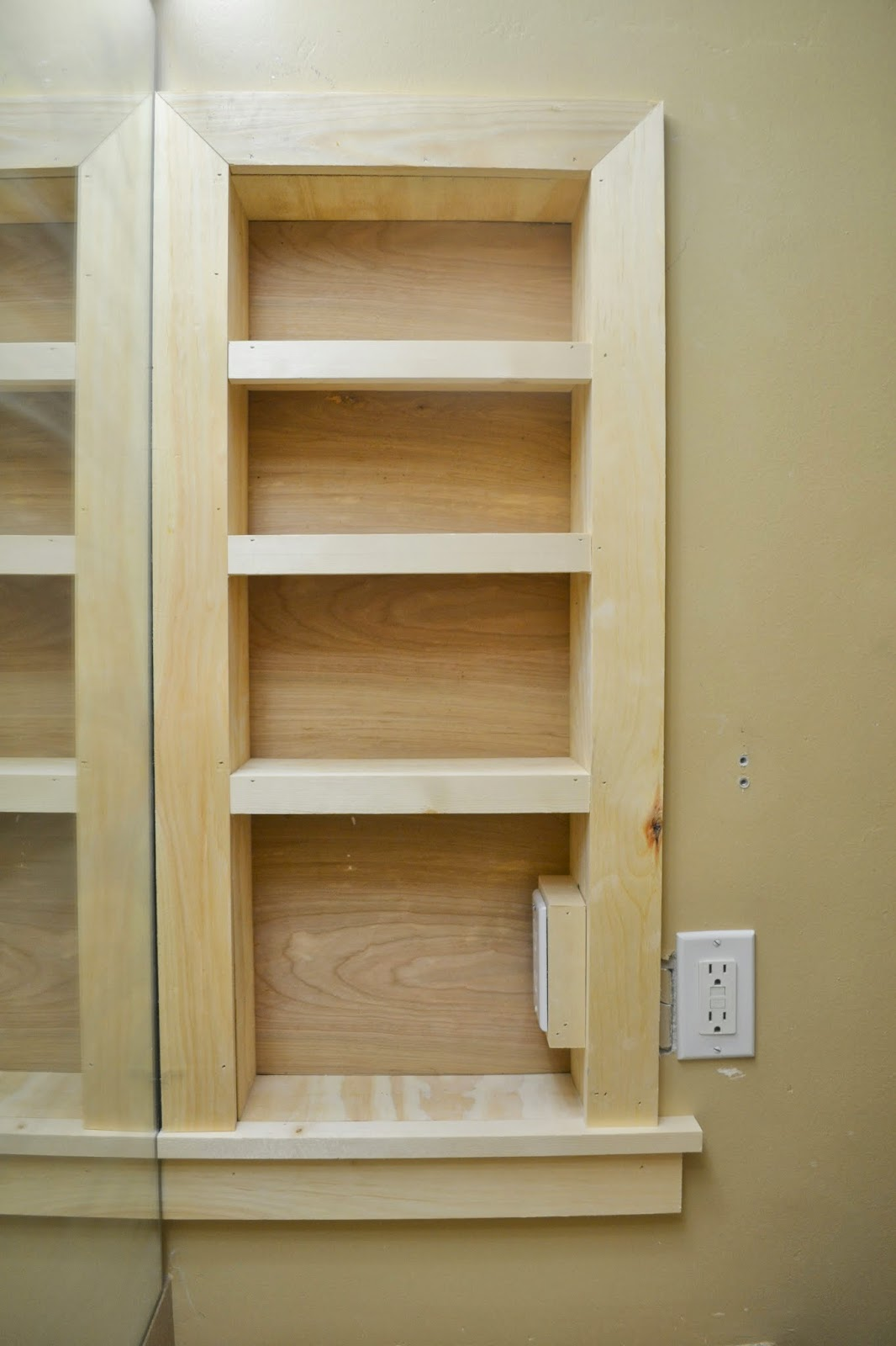 26 Cool Bathroom Shelves Between Studs Eyagci