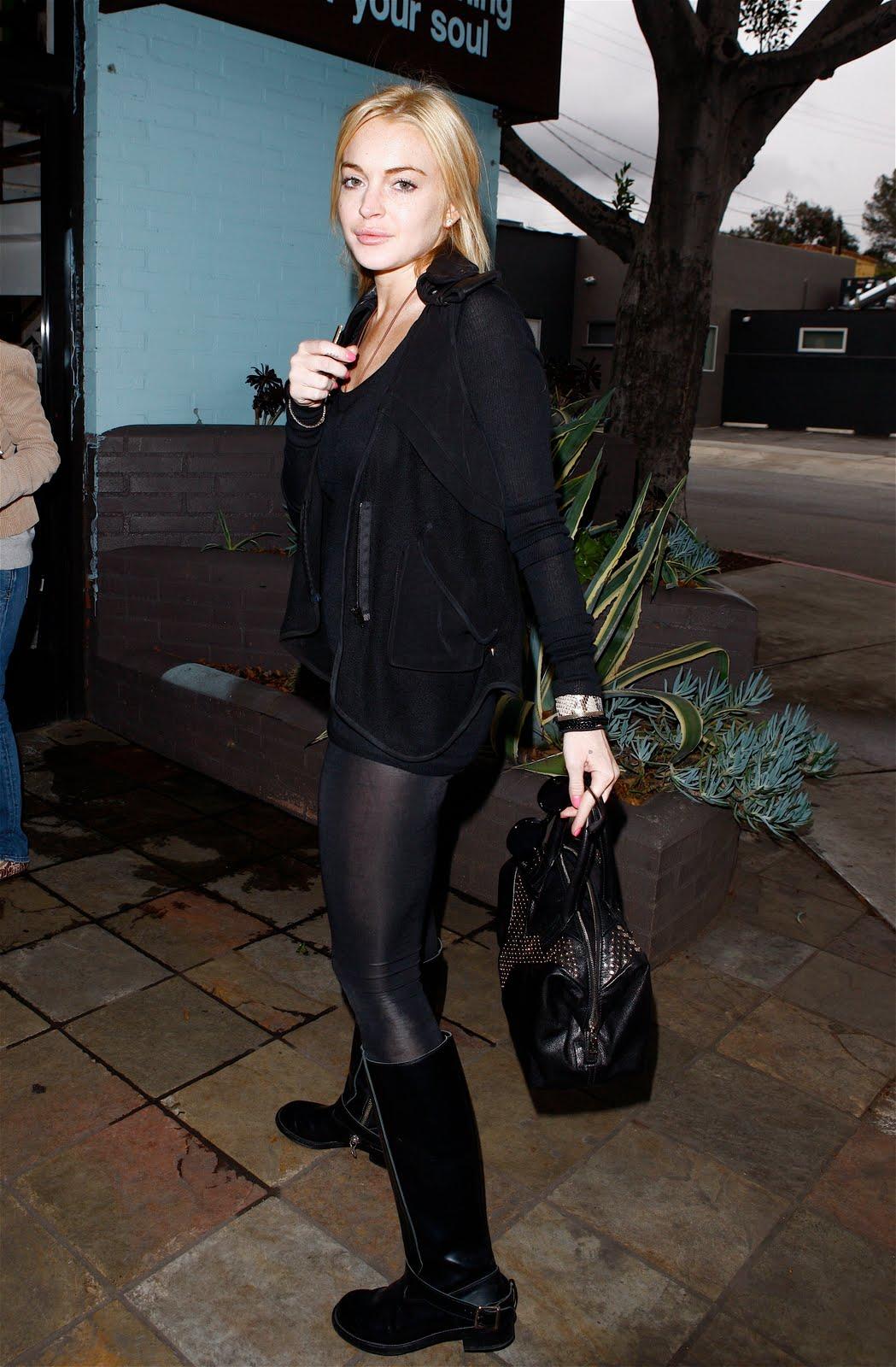 Lindsay Lohan Leggy Candids