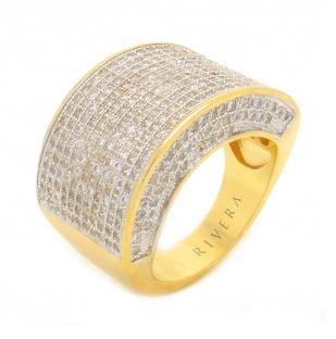 anel dourado e prata