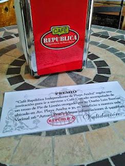 Café República en facebook