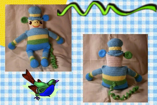 free amigurumi monkey pattern by Craftybegonia