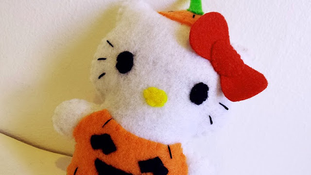 How to Make a Hello Kitty Pumpkin plushie tutorial