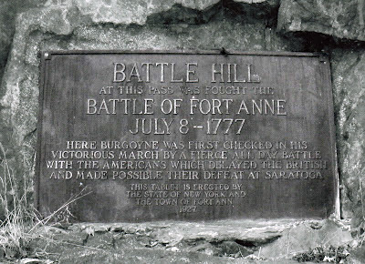 Fort Ann Battle Hill marker