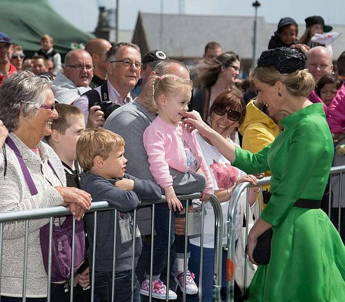 Sophie, Countess of Wessex attends the 70th anniversary of the Channel Islands liberation on May 9, 2015 in in Guernsey.