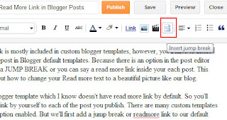 How to Insert Read More Link in Blogger Posts?