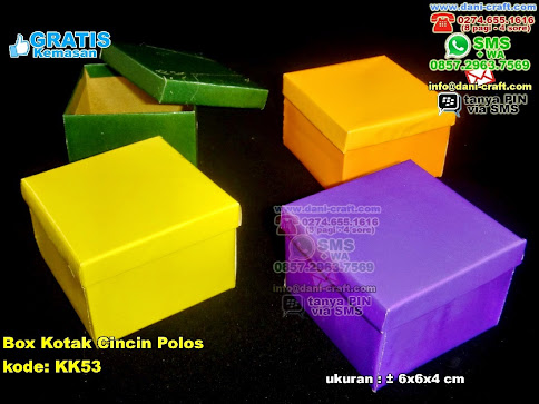 Box Kotak Cincin Polos Karton Kertas Bungkus