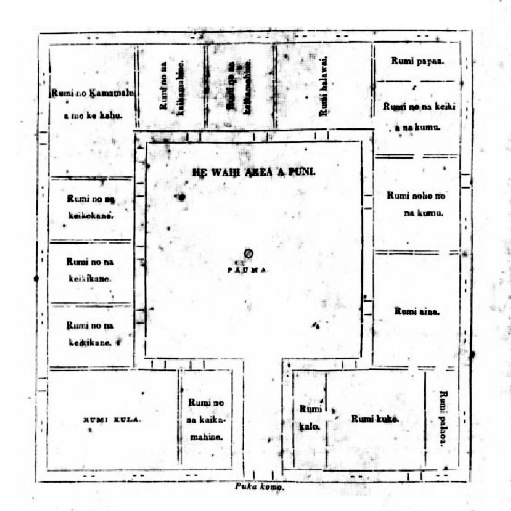 Floor plan chief s children s school hawaiian time machine for Rectangle shaped house plans