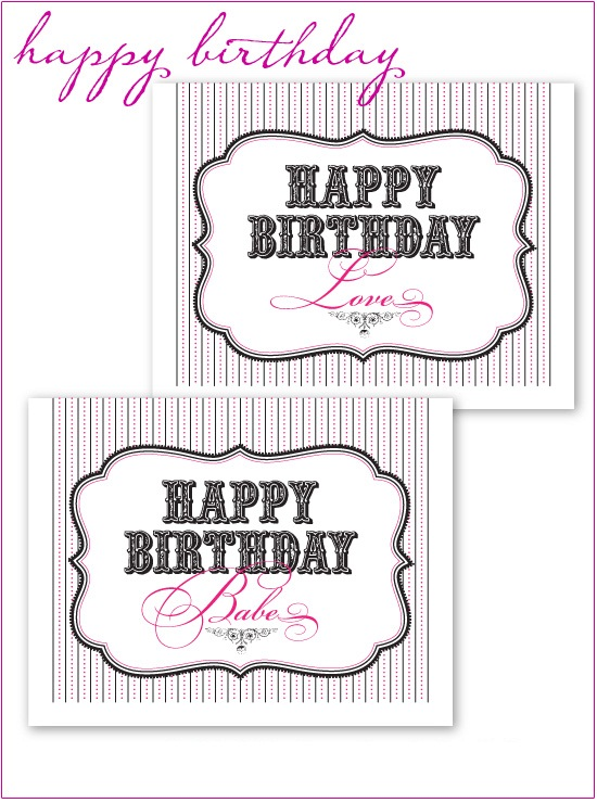 Doc Print a Happy Birthday Card Printable Happy Birthday – Birthday Cards to Print out for Free