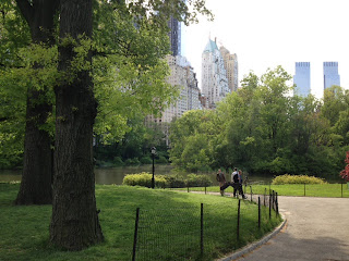 Central Park entrance, Central Park Fifth Avenue, summer day in central park nyc