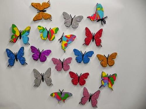 borboletas com purpurina