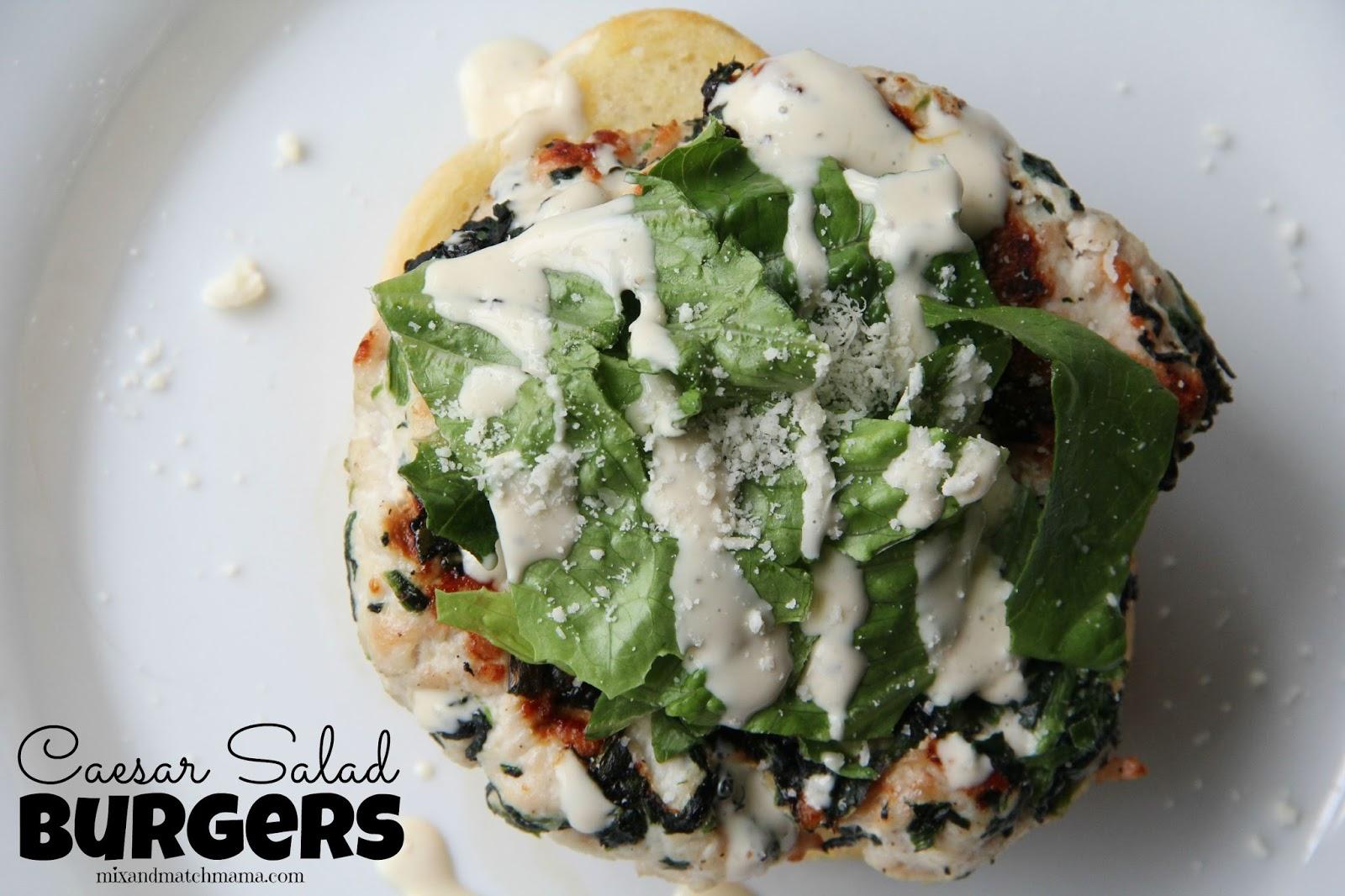 Caesar Salad Burgers !