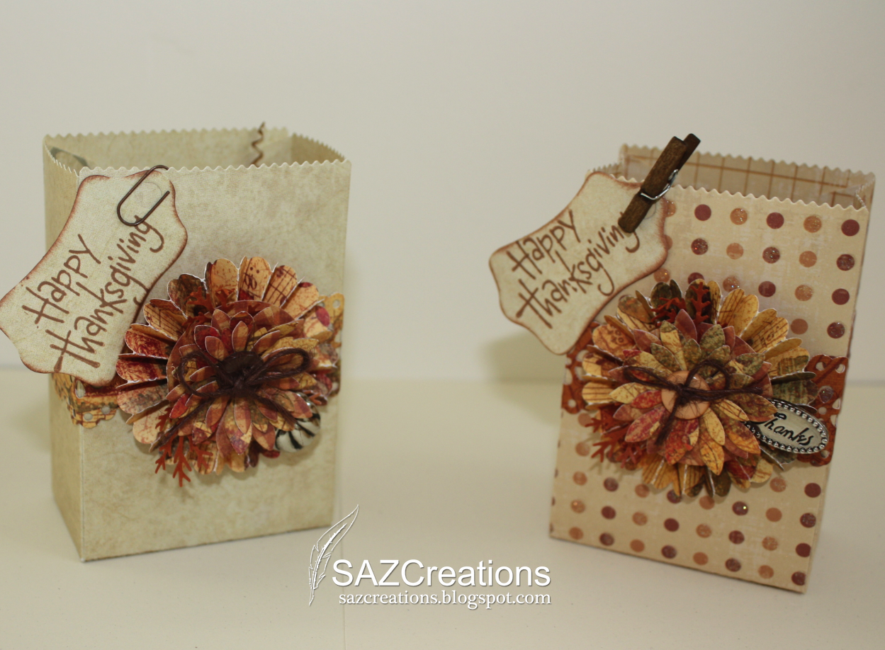 Creations by saz small and medium thanksgiving gift bags