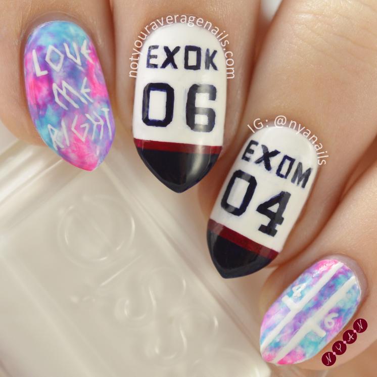 Exo Inspired Nail Art ~
