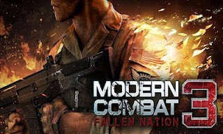 Screenshots of the Modern Combat 3 Fallen Nation for Android tablet, phone.