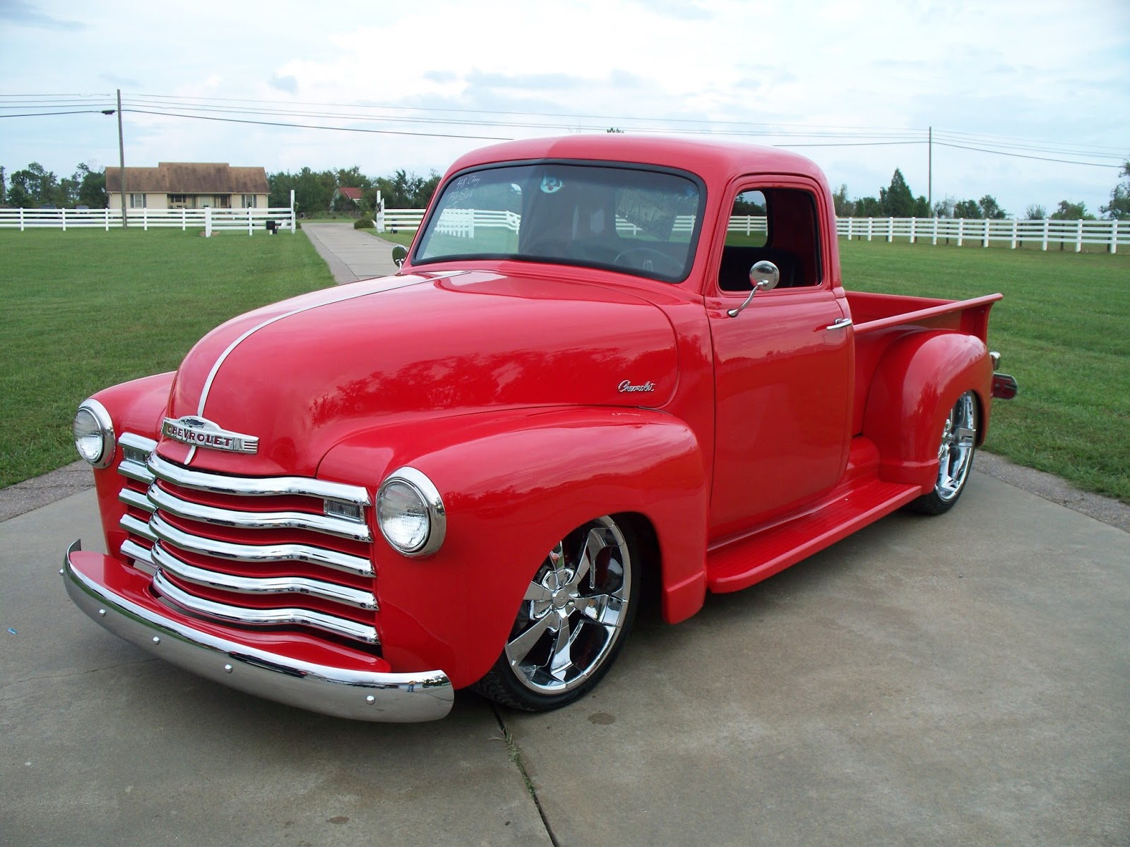Red 1948 Chevy Truck Hot Rod Styles - Chevy Trucks
