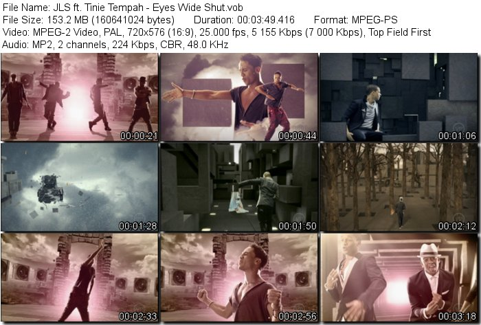Tinie Tempah - Eyes Wide Shut.vob. File Size: 153.2 MB