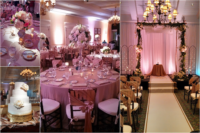 Blush gold ivory champagne Isha Foss Events Wedding Floral Design