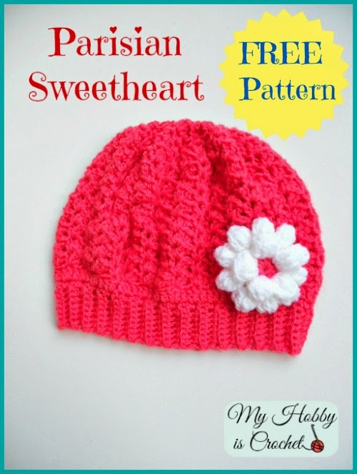 My Hobby Is Crochet Parisian Sweetheart Slouch Hat Free Crochet