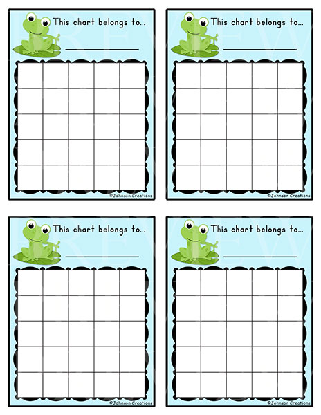 Johnson Creations New Behavior Charts  Reward Charts