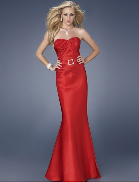 Satin Strapless Neckline with Ruched Bodice Sexy Mermaid Style