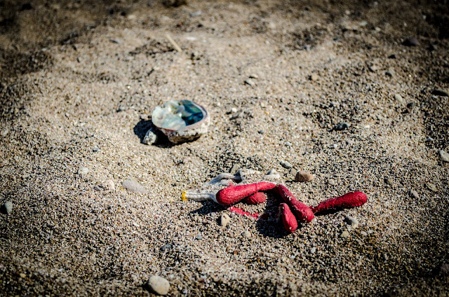 Pohang South Korea Chilpo Beach Trash