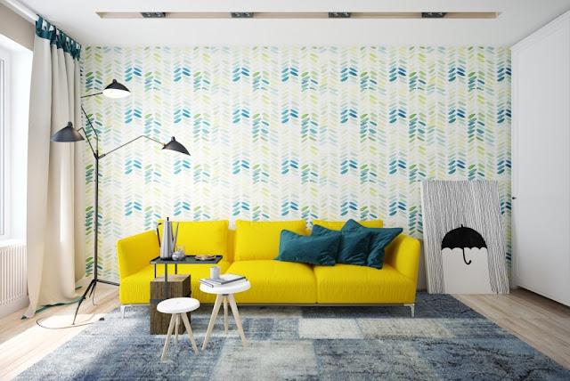 interior dengan aksen warna kuning 4