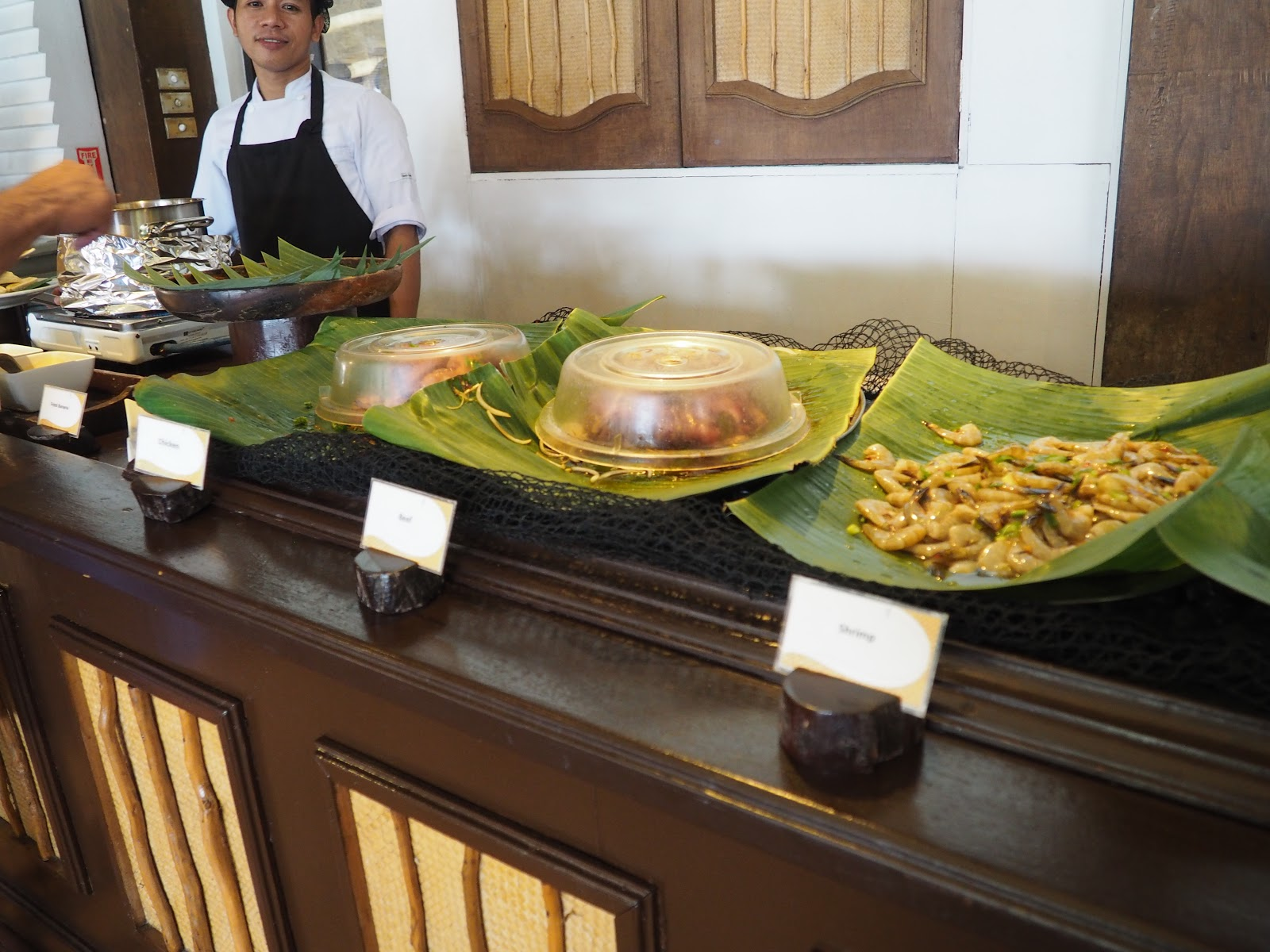 buffet table, el nido