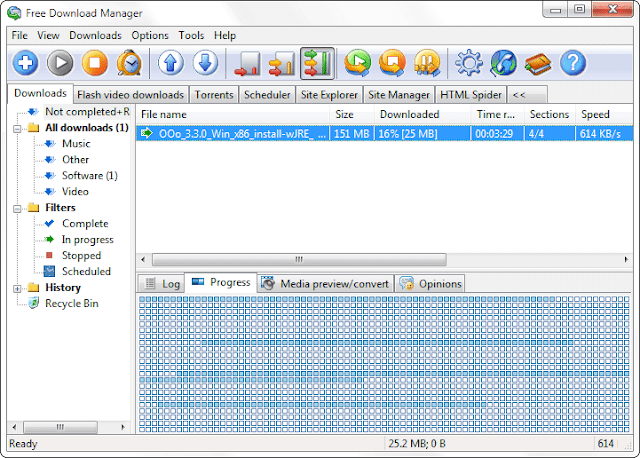 Free Download Manager 3.9 - Downloading Files