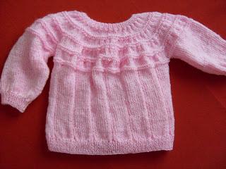 Tejer el arte de crear con tus manos chaleco a palillo para bebe de 3 a 6 meses - Tejer chaqueta bebe 6 meses ...