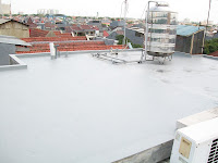 waterproofing coating exposed