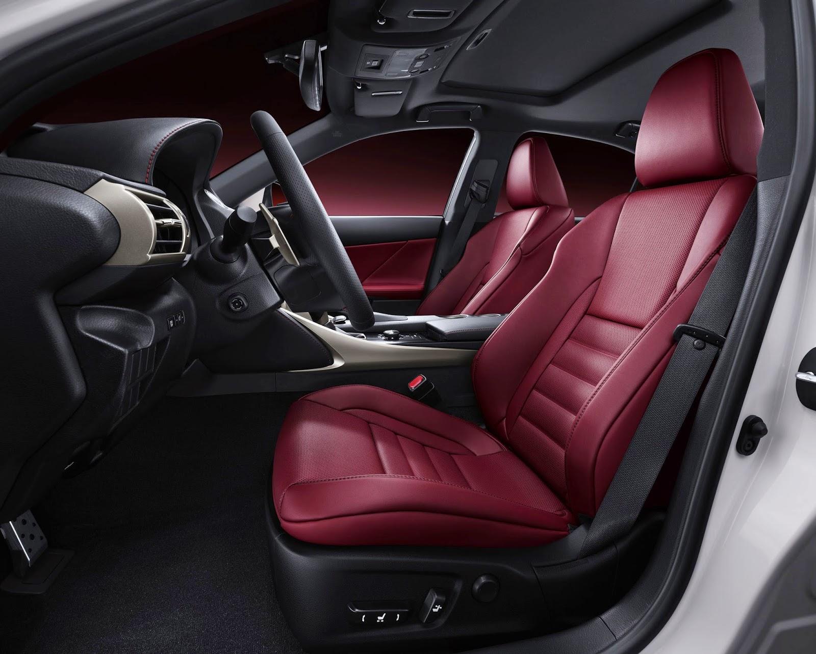 Interior view of 2015 Lexus IS350 F-SPORT
