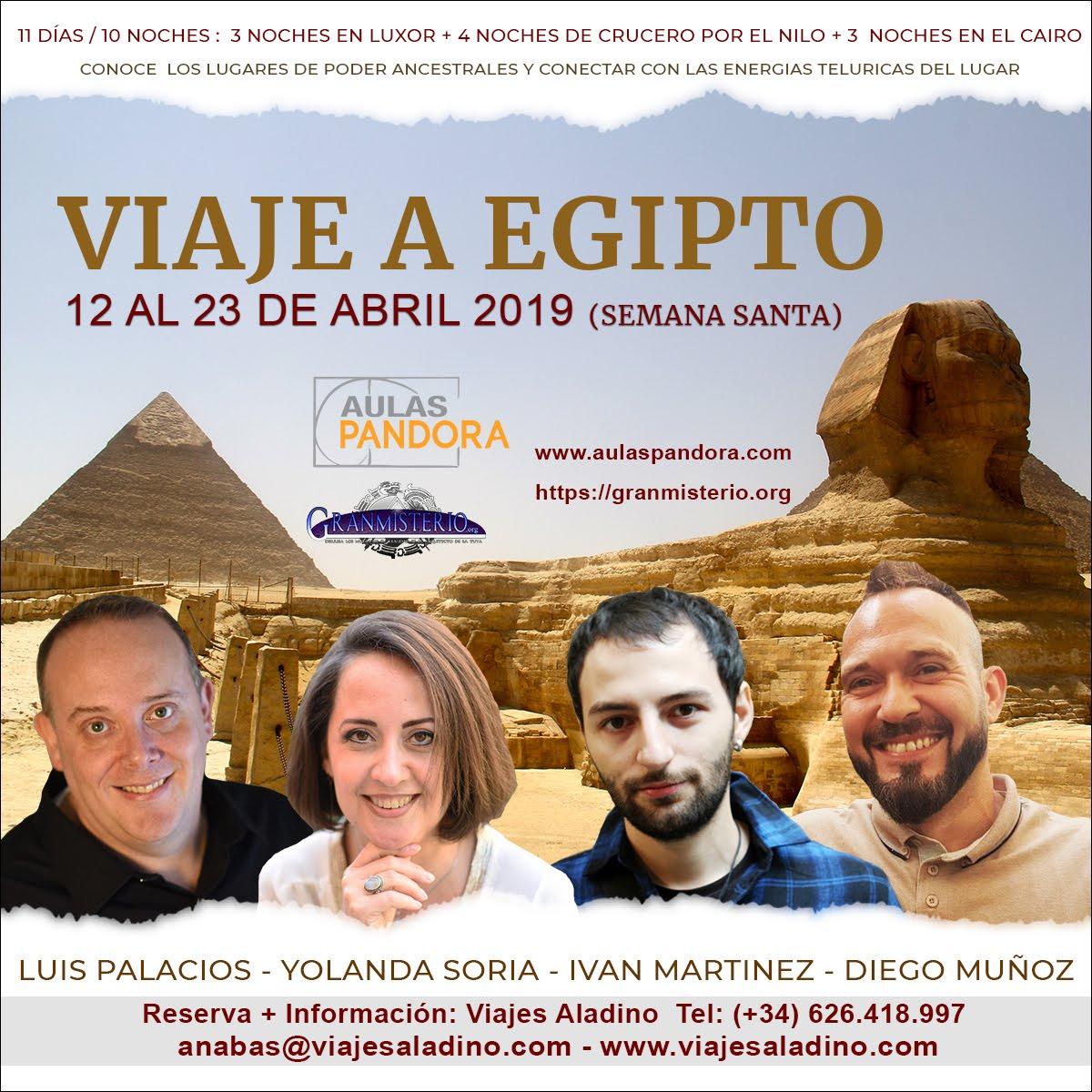 12 AL 22 DE ABRIL 2019 (SEMANA SANTA) – VIAJE A EGIPTO CON IVAN MARTINEZ, DIEGO MUÑOZ, LUIS PALACIO