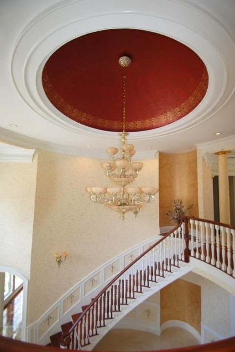 Faux painted dome ceilings