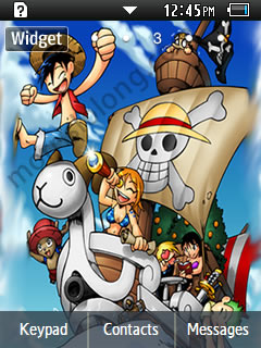 One Piece Anime Chibi Samsung Corby 2 Theme Wallpaper