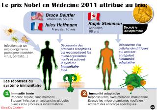 Prix Nobel en Médecine 2011 - Système immunitaire - à Beutler, Hoffmann et Steinmann