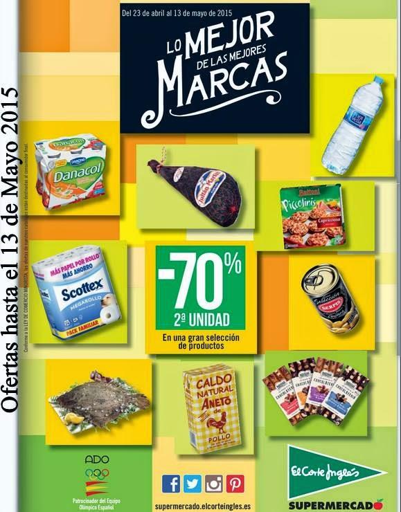 supermercado El Corte Ingles -70% mayo 2015