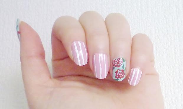 makeupmarlin rose fabric nail