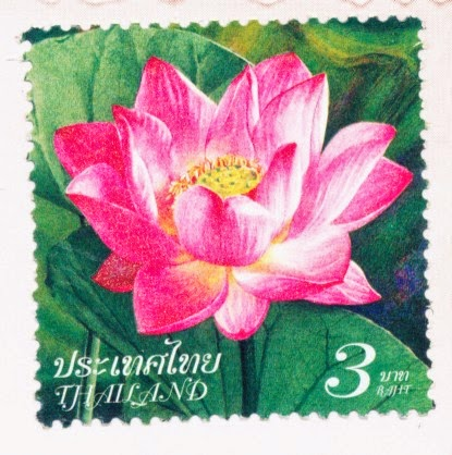 flower, stamp, thailand