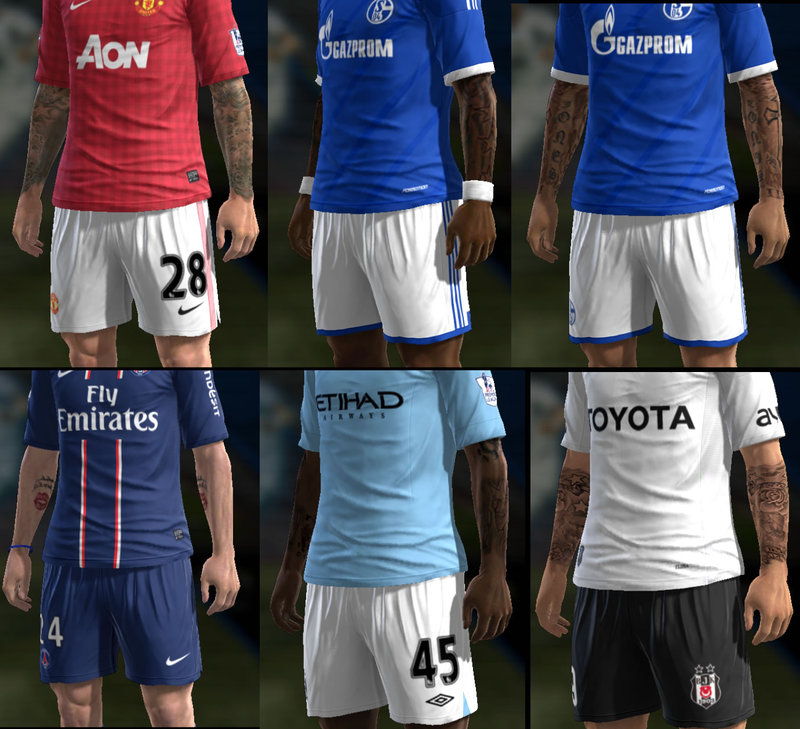 Pack de Tattoos v8 - PES 2013