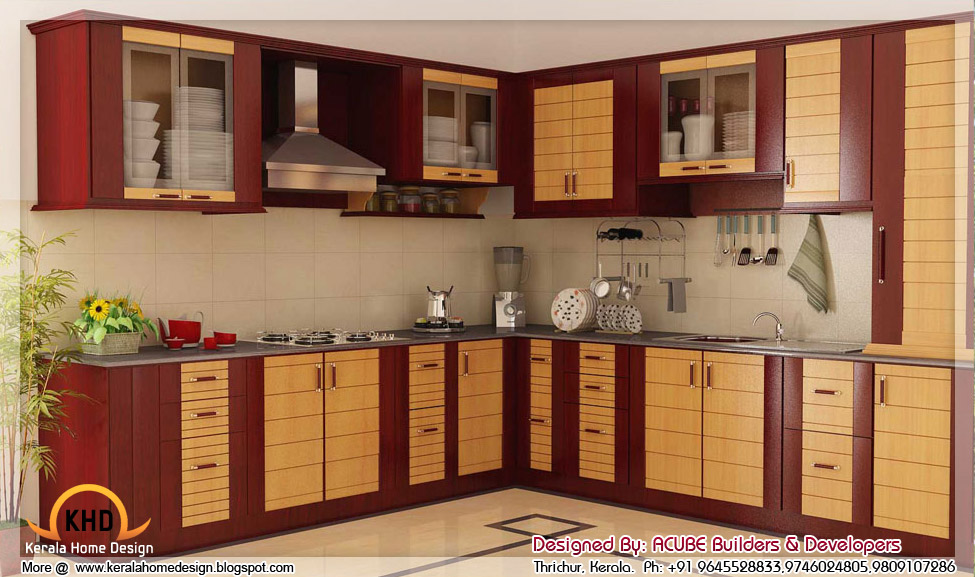 3D home interior designs in Kerala - Kerala home design and floor